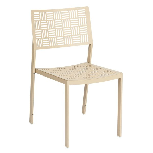 New Century Stacking Patio Dining Chair with Cushion (Set of 2) by Woodard