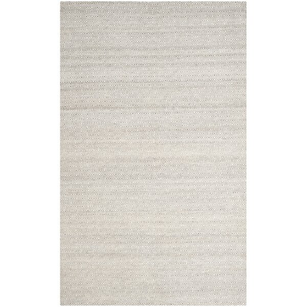 Anis Kilim Hand-Woven Wool Ivory/Graphite Area Rug by One Allium Way