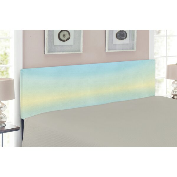 Sky Blue Like Artwork Upholstered Panel Headboard by East Urban Home East Urban Home