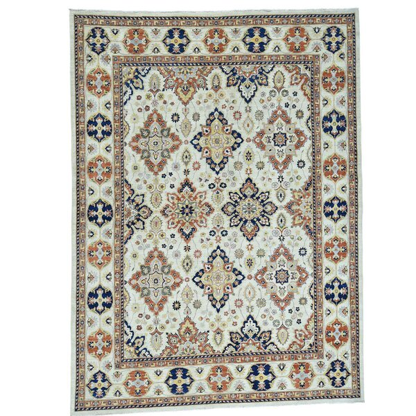 One-of-a-Kind Bagby Hand-Knotted Ivory Area Rug by Isabelline