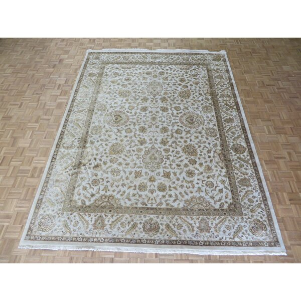 One-of-a-Kind Josephson Hand-Knotted Silk Ivory Area Rug by Canora Grey