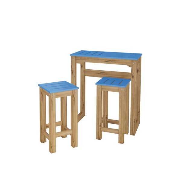 Wiggin 3 Piece Pub Table Set (Set of 3) by Millwood Pines