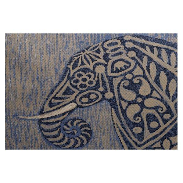 Essehoul Print Blue Indoor/Outdoor Area Rug by Bungalow Rose
