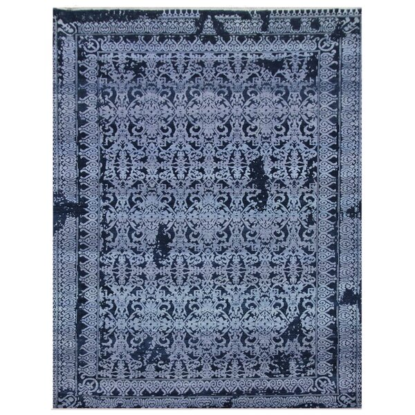 Lexington Hand-Knotted Blue/Ivory Area Rug by Exquisite Rugs