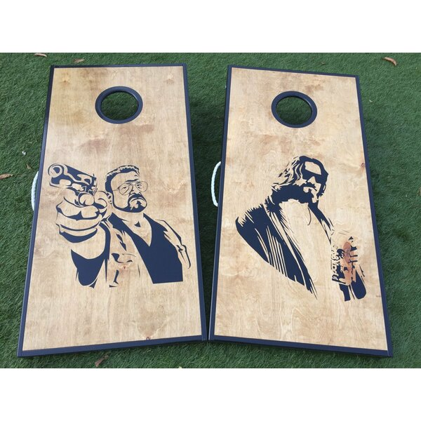 The Big Lebowski 10 Piece Cornhole Set by West Georgia Cornhole