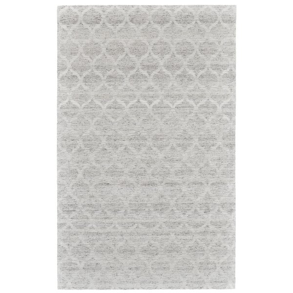 Brainard Hand-Woven Gray/White Area Rug by Alcott Hill