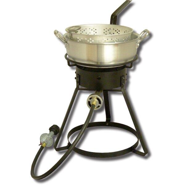 Bolt Together Outdoor Cooker with 7 Quart Aluminum Deep Fryer by King Kooker