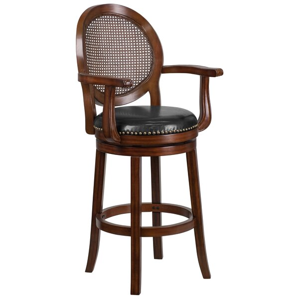 Nyo 30'' Swivel Bar Stool by Darby Home Co