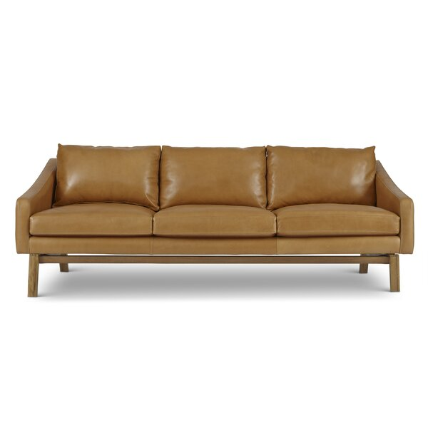 Coronet Leather Sofa by Foundry Select