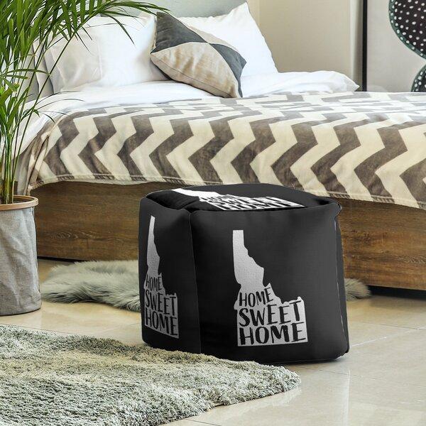 Home Sweet Idaho Cube Ottoman by East Urban Home East Urban Home