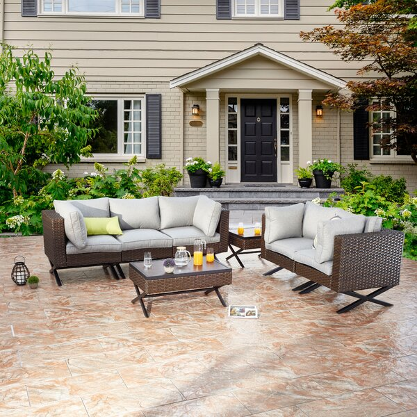 Rimersburg 7 Piece Sofa Seating Group with Cushions by Latitude Run