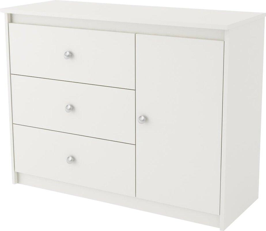 Truett 3 Drawer Combo Dresser