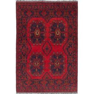 One Of A Kind Lelia Handmade Wool Red Area Rug