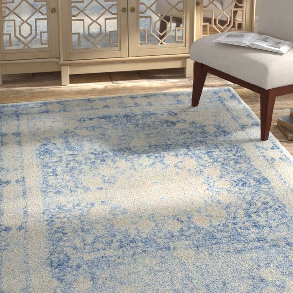 Parodi Navy Blue Area Rug by Bungalow Rose