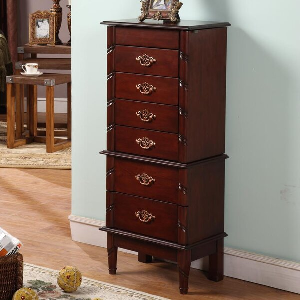 Cherry Luxemburg Classic Jewelry Armoire with Mirror by Wildon Home ®