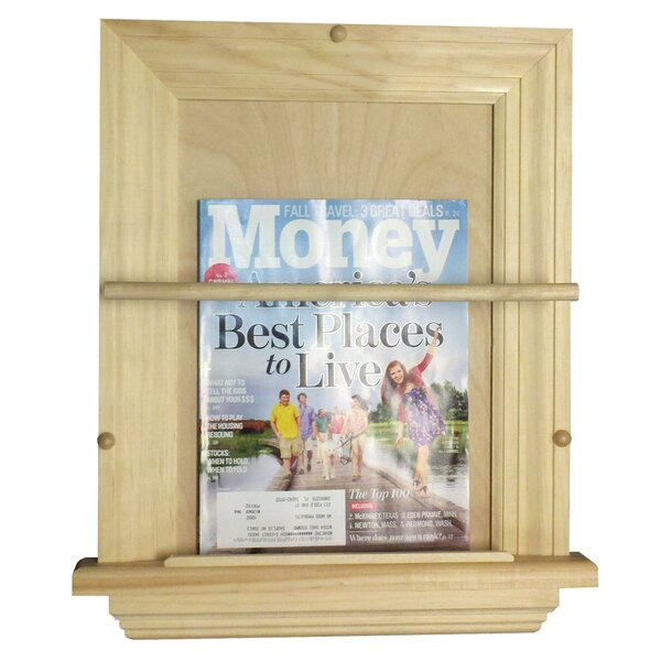On the Wall Magazine Rack by WG Wood Products