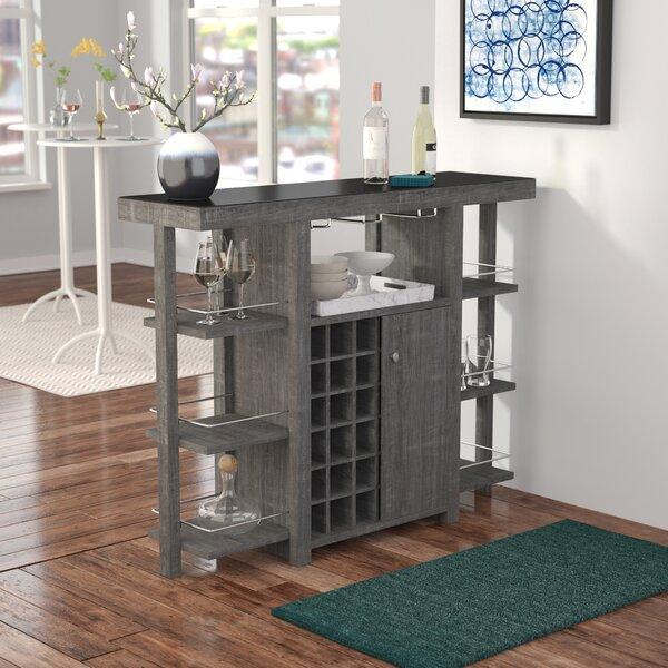 Feldt Bar with Wine Storage by Brayden Studio Brayden Studio