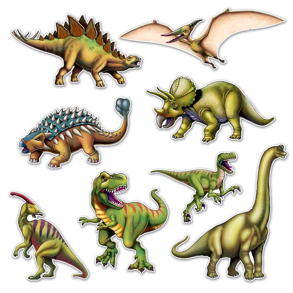 8 Piece Dinosaur Standup Set (Set of 3) by The Beistle Company
