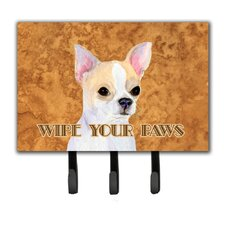 Chihuahua Wipe Your Paws Leash Holder and Key Holder by Caroline's Treasures