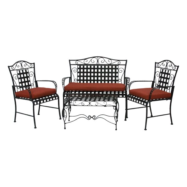 3 Piece Indoor/Outdoor Dining Chair and Loveseat Cushion Set by Blazing Needles