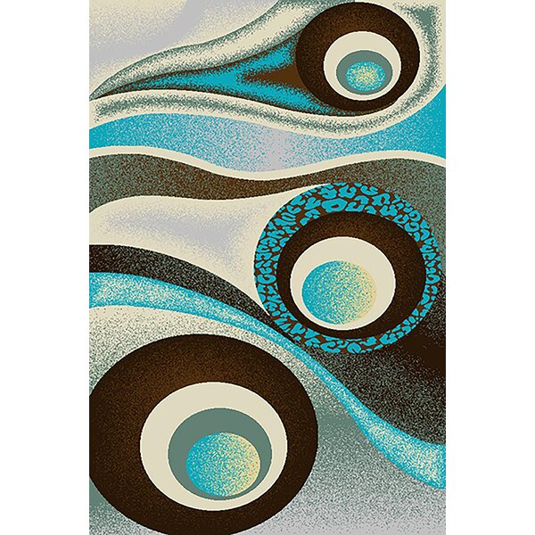Mccampbell Brown/Turquoise Area Rug by Ivy Bronx