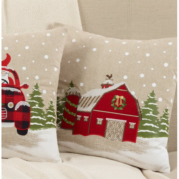 Naveen Barn Throw Pillow by The Holiday Aisle
