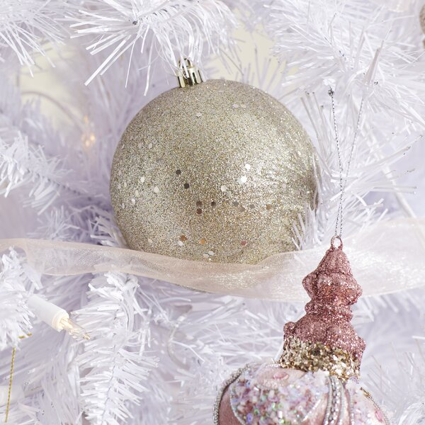 Sequin Ball Drilled Ornament (Set of 6) by The Hol