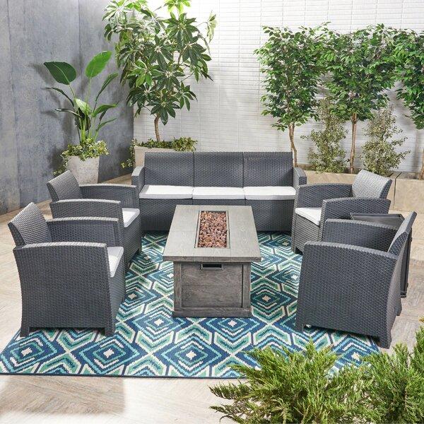 Shakti 7 Piece Wicker Sofa Seating Group with Cushion Brayden Studio FOME7690
