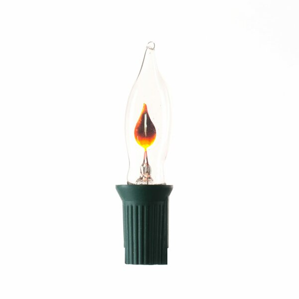 10 C7 Flicker Flame 10 Light String Lighting by The Holiday Aisle