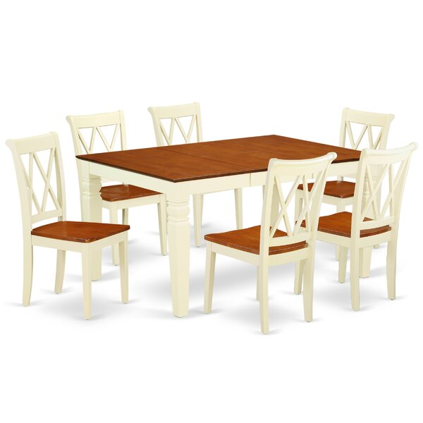 Korolevu 7 Piece Extendable Solid Wood Dining Set by August Grove