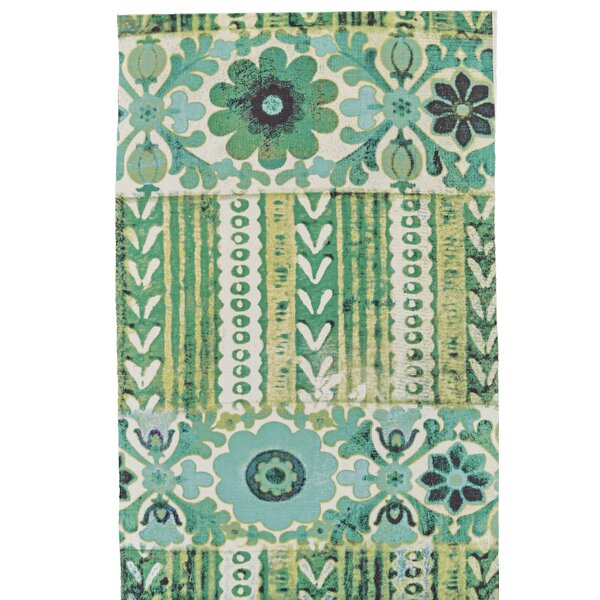 Elinore Hand Woven Emerald Indoor/Outdoor Area Rug by World Menagerie