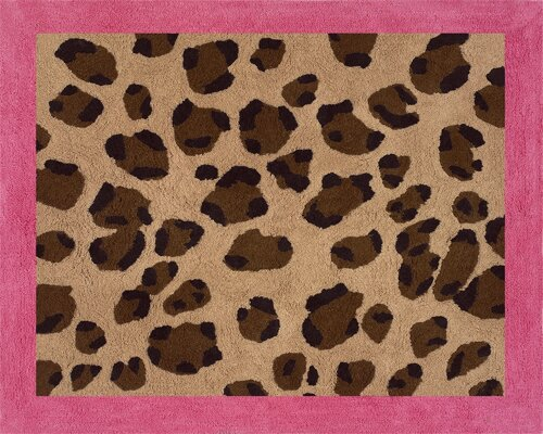 Cheetah Pink Area Rug by Sweet Jojo Designs