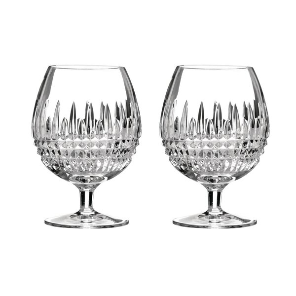 Lismore Diamond Crystal Snifter Glass (Set of 2) by Waterford