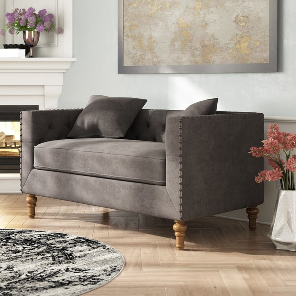 Croyd Chesterfield Loveseat by Everly Quinn