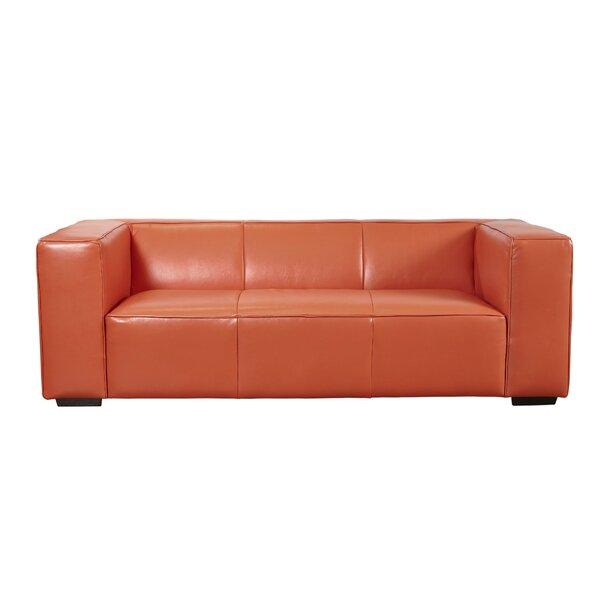 Denis Leather Sofa by Latitude Run