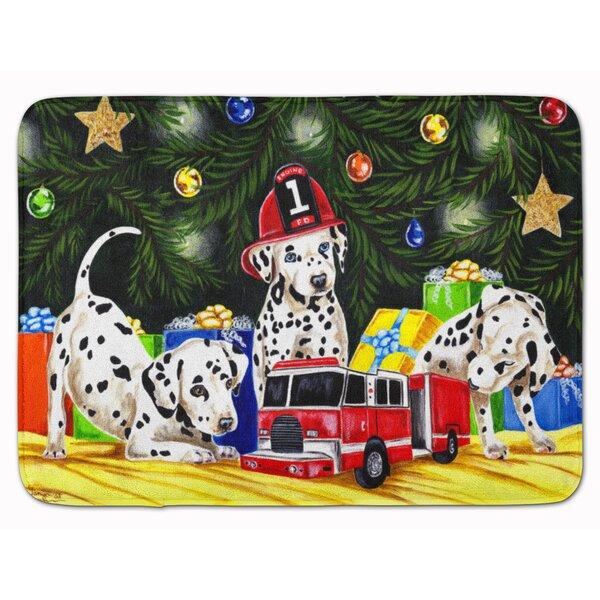 Christmas Favorite Gift Dalmatian Rectangle Microfiber Non-Slip Bath Rug