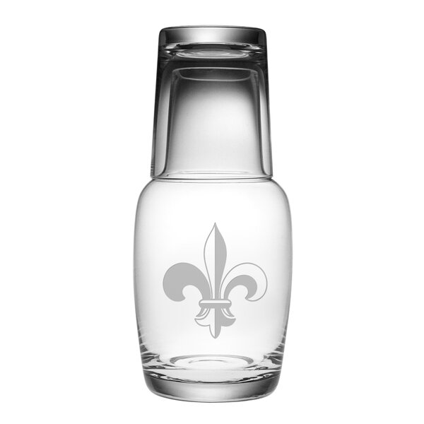 2-Piece Fleur De Lis Night Bottle Set by Susquehanna Glass