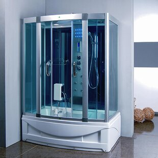 Best Reviews 59 x 84.5 Rectangle Sliding Steam Shower with Base Included By Kokss