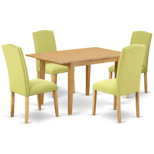 Ludwicka 5 Piece Extendable Solid Wood Dining Set by Winston Porter Winston Porter