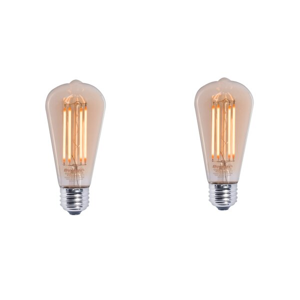 7W E26 Dimmable LED Light Bulb Amber (Set of 2) by Bulbrite Industries