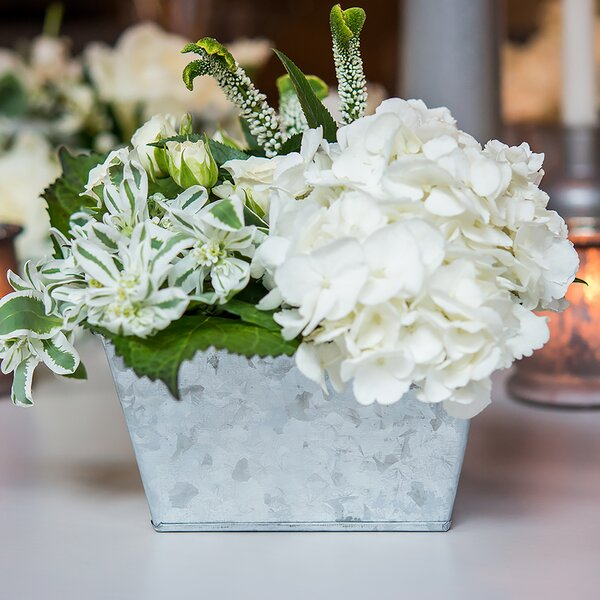 Galvanized Tin Pot Planter (Set of 2) by Weddingstar