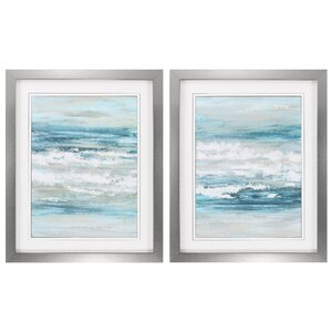At The Shore 2 Piece Framed Painting Print Set by Propac Images