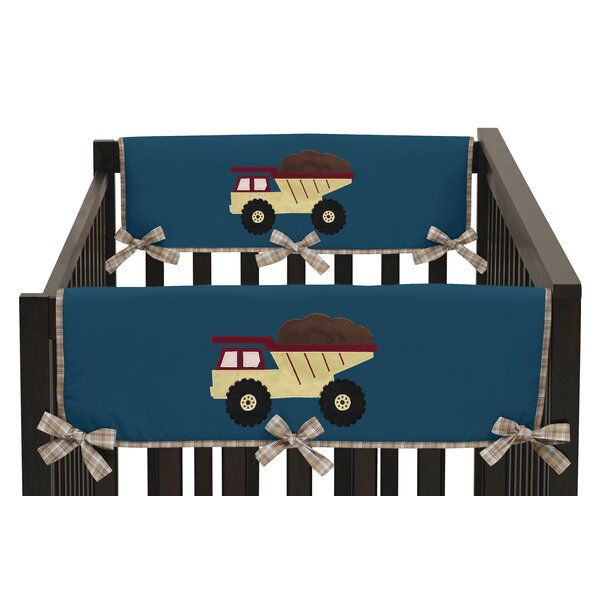 Construction Zone Side Crib Rail Guard Cover (Set of 2) by Sweet Jojo Designs