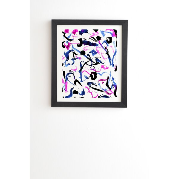 Zest Black and White Framed Painting Print by East Urban Home