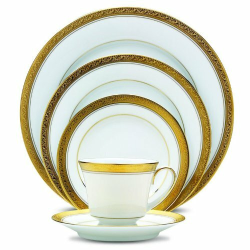 Crestwood Gold 20 Piece Dinnerware Set, Service for 4 by Noritake