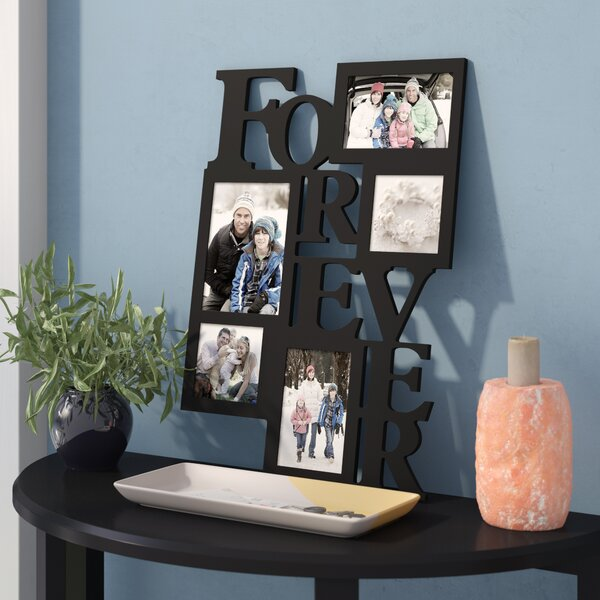5 Opening Decorative Wood Forever Collage Wall Hanging Picture Frame by Zipcode Design