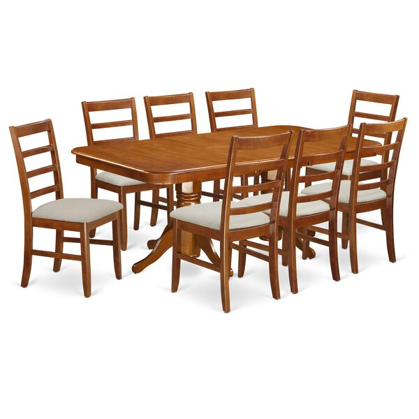 Pillsbury Modern 9 Piece Wood Dining Set by August Grove