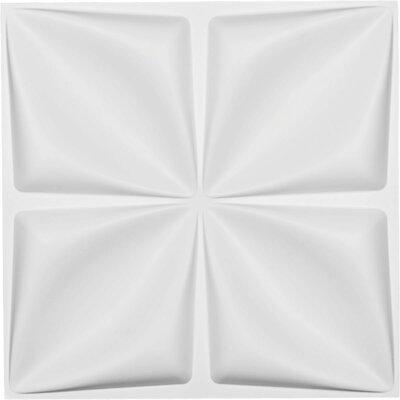 "Riley Endurawall Decorative 3D 235.56"" L x 19.63"" W Paintable Wallpaper Panel Ekena Millwork"
