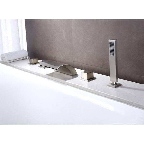 Deck Mount Waterfall Faucet with Hand Shower by Sumerain International Group