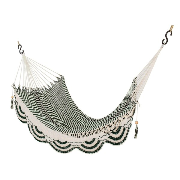 Moorehead Nap in the Forest Cotton Rope Tree Hammock by Bungalow Rose Bungalow Rose